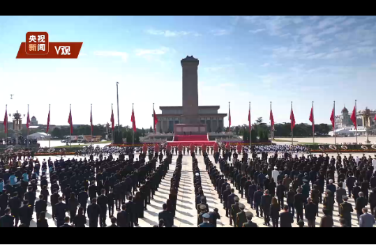 独家视频丨习近平等党和国家领导人向人民英雄敬献花篮