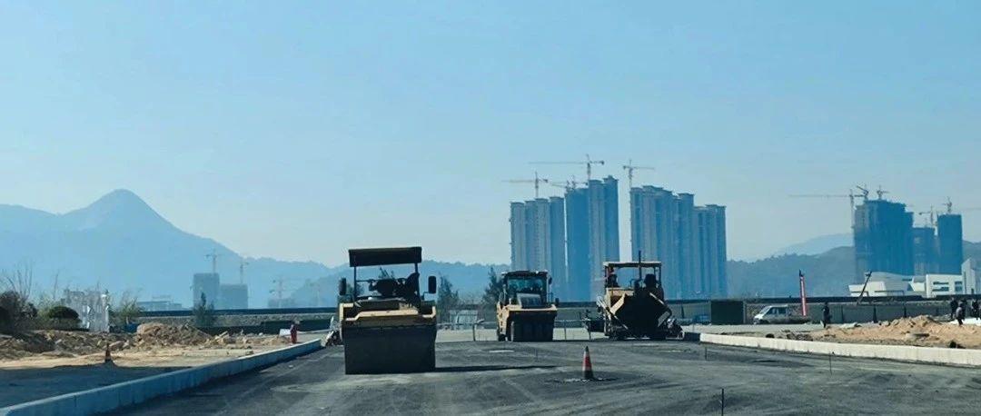 温州大道进入沥青铺设,向通车目标全力冲刺!