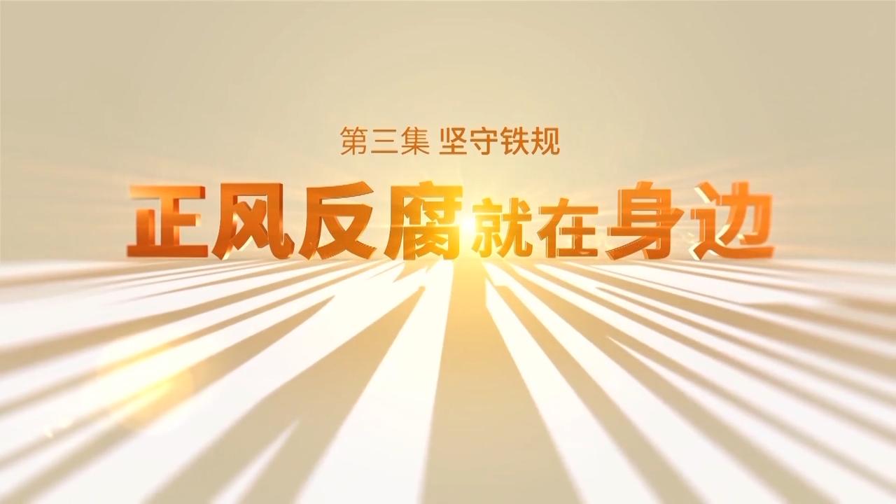 电视专题片《正风反腐就在身边》第三集:《坚守铁规》