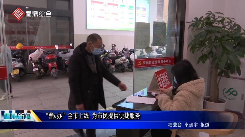 """""""鼎e办""""全市上线 为市民提供便捷服务"""