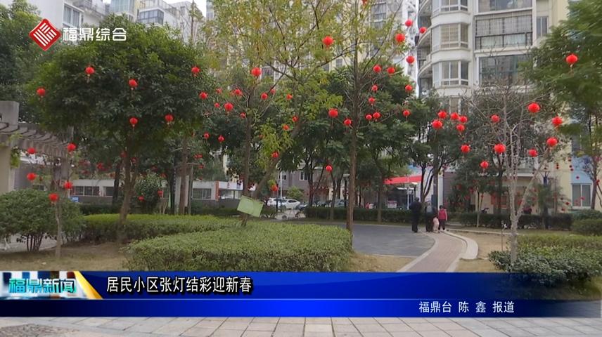 【网络中国节•春节】居民小区张灯结彩迎新春