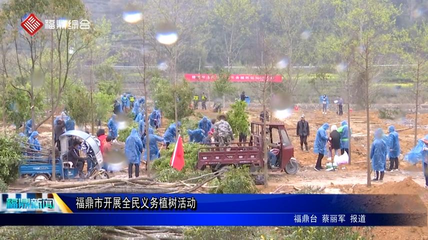 福鼎市开展全民义务植树活动