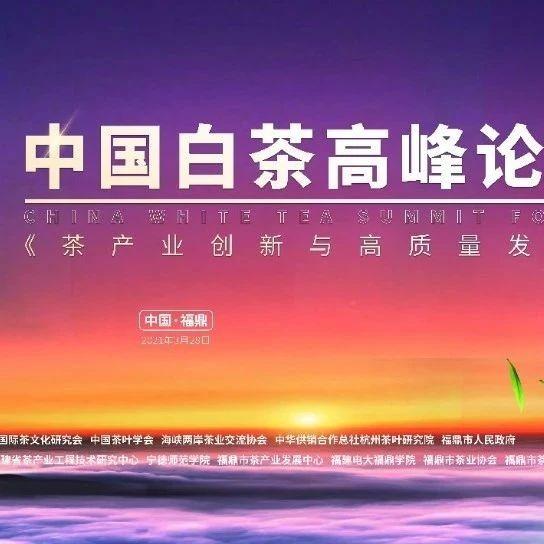 开茶节当天,别忘了还有这场中国白茶高峰论坛!