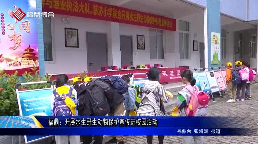 福鼎:开展水生野生动物保护宣传进校园活动